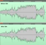 SEA comparison for WAV files